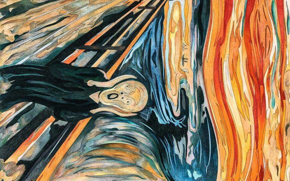 مونک-نقاش-نروژی-کاریز-تابلو-جیغ